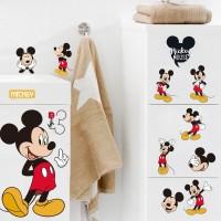 Mickey Mouse Minnie Mouse Kamar Mandi Dekorasi Kartun Lucu kaca