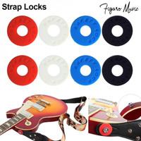 Gitar Strap Safety Lock Rubber - Strap Lock Guitar Bass
