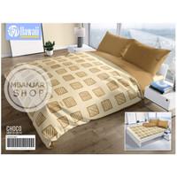 BED COVER SET Hawaii by California KingSize 180x200 CHOCO Motif