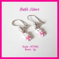 Anting Anak Hello Kitty ATA01 Perhiasan Silver Perak 925 Lapis Emas