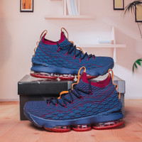 Sepatu Basket Nike LeBron 15 New Heights Navy Premium Original BNIB