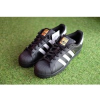 sedia Sepatu Sport Nike Adidas Superstar Foundation Original Hitam