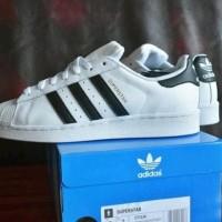 ready Sepatu Sport Nike Adidas Superstar Putih List Hitam Original Ori