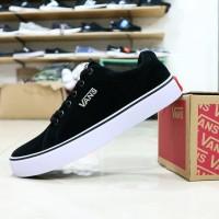 Sepatu Kets Vans California Full Suede Black Logo Ring Besi