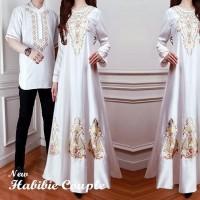 Habibi Couple White couple Muslim baju couple terbaru