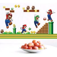 Stiker Dinding / Stiker Kaca / Wall Sticker (Game Mario Bros)