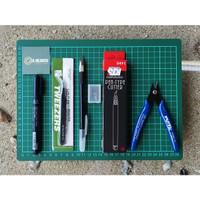 Gunpla Tool Set Paket A4 Basic - Alat Rakit Gundam Model Kit Tool