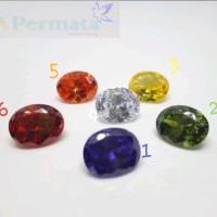 BATU AMERICAN DIAMOND GARNET CITRINE KECUBUNG PAPARACHA 9x11