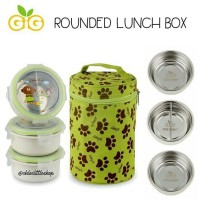Gig rounded lunch box stainless steel