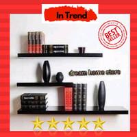 rak dinding floating shelf 1set Terlaris