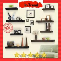 rak dinding shelf floating 1set decosheet