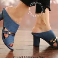 Promo Sandal High Heels Hak Tahu Diana Dd01 7Cm Big Heel Tahu Wanita -