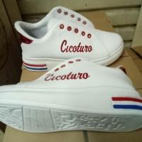 Promo Sneaker (Cico) List Merah - Putih, 36 Termurah