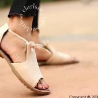 Promo Flatshoes Opentoe Peggy Sol Kickers Krem - Ivory, 37 Termurah