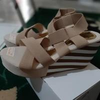 Promo Sandal Wedges Wanita Belang Wg54 - Hitam, 37 Termurah