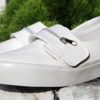 Promo Sepatu Kets Resleting Wanita Murah Tb-718 Putih - Putih, 37