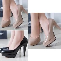 Promo Sepatu Wanita Heels Pesta Mocca - Hitam, 37 Termurah