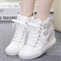 Promo Sepatu Boots Wanita Model Korea Sbo97 - Putih, 37 Termurah