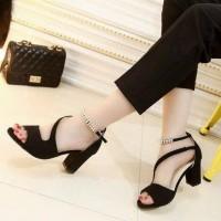 Promo Sepatu Sandal High Heels Wanita Hak Tahu Ht60 - Hitam, 36