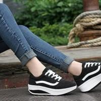 Promo Sepatu Wanita Kest Vans Sds110 - Hitam, 37 Termurah
