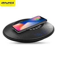 Awei 2 in 1 Speaker Bluetooth Qi Wireless Charger Dock - Y290 Ori