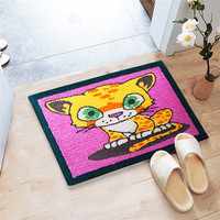 Keset Kaki Handtuft Halus Unik Cat 40x60 cm