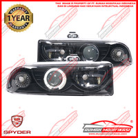 HEAD LAMP - OPEL BLAZER 1998-2004 - SONAR - ANGEL EYES - BLACK