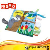 Buku Kain Cerita Anak Soft Cloth Book Nama Hewan Darat (Harga Grosir)