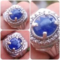 Batu Mulia Natural Blue Sapphire Safir Biru Asli Alam Luster Mantul