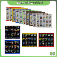 Rak Rack Hotwheels 1:64 Isi 50 Square Model Pintu Sleeding