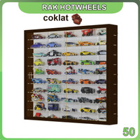 Rak Rack Hotwheels 1:64 Isi 50 Square BROWN Edition