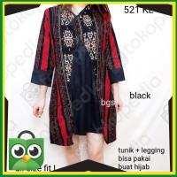 Promo DRESS 521KL# DRESS BATIK DEWASA TUNIK MOTIF TENUN Elegan