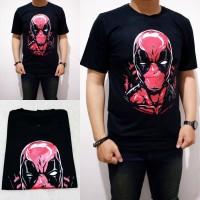Kaos Deadpool Face 2175 Bahan Cotton Spandex