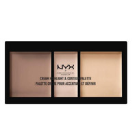 NYX Professional MakeUp Cream Highlight Contour Palette - Medium