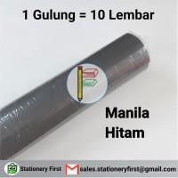 Kertas Karton Manila BC Hitam Doff per Roll 10 Lembar Serbaguna