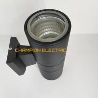 LAMPU DINDING OUTDOOR MINIMALIS WATERPROOF 2 ARAH TABUNG ANTI AIR