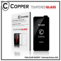 Samsung A20 - COPPER Tempered Glass Full Glue PREMIUM glossy