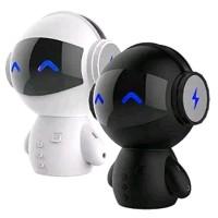 Speaker Bluetooth Portable 2 in 1 Power Bank Model Robot Berkualitas