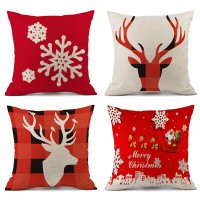 New Christmas Decorations For Home Reindeer Pillow Cover Case