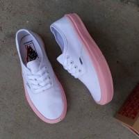 Sepatu Wanita VANS Authentic Pink Putih Premium Original