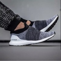 Adidas Ultra Boost Laceless Oreo Premium Original/sneakers murah