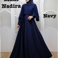 Baju Atasan Wanita Maxi Dress Baju Muslim Nadira Maxi Navy Taks.75