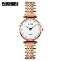 Jam Tangan Wanita Original SKMEI 1223 Anti Air 30M - Rose Gold White S