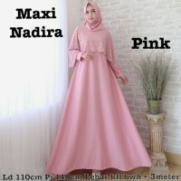 Baju Atasan Wanita Maxi Dress Baju Muslim Nadira Maxi Pink Taks.75