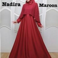 Baju Atasan Wanita Maxi Dress Baju Muslim Nadira Maxi Marron Taks.75