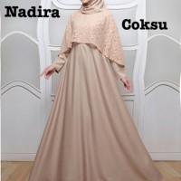 Baju Atasan Wanita Maxi Dress Baju Muslim Nadira Maxi Coksu Taks.75