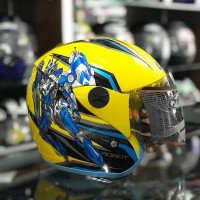 Helm SNI Anak Robot Pastel Yellow not Ink Kyt nhk Axio