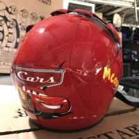 Helm Half Face Anak Cars / Mobil / Animasi / Mc Queen Ink Kyt Asv Axio