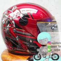 Helm Bogo Anak Transformer Red / Robot / Animasi Ink Kyt Asv Axio