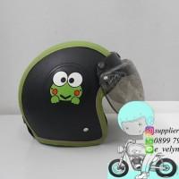 Helm Bogo Kulit Anak Keropi / Black / Green not Ink Kyt nhk Axio